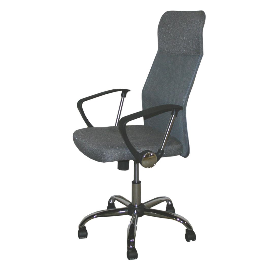 Sedia da ufficio poltrona direzionale sedia grigio sedia for Altezza sedia