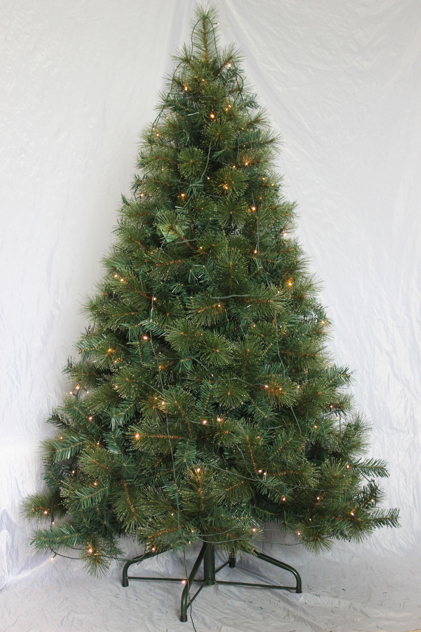 Rbol de navidad para exterior iluminado 210 cm 200 led - Arbol de navidad exterior ...