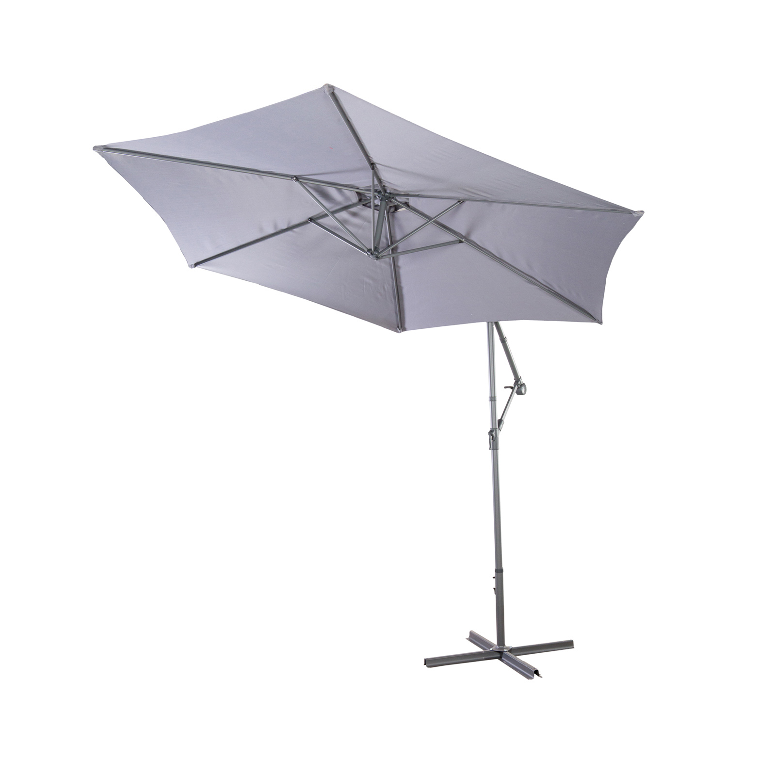 ampelschirm sonnenschirm 3m sonnenschutz schwenkbar aluminium gestell grau ant ebay. Black Bedroom Furniture Sets. Home Design Ideas