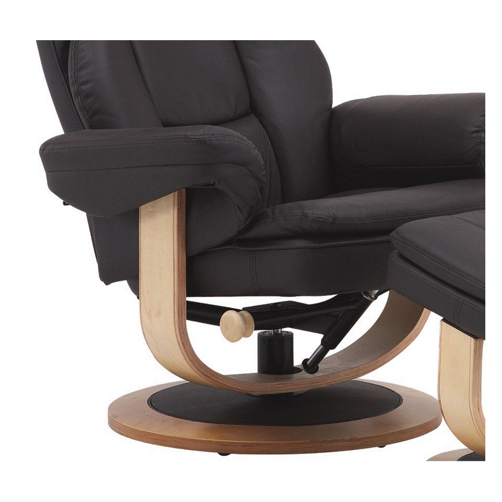 fernsehsessel hocker leder drehbar relaxsessel tv ledersessel braun ebay. Black Bedroom Furniture Sets. Home Design Ideas