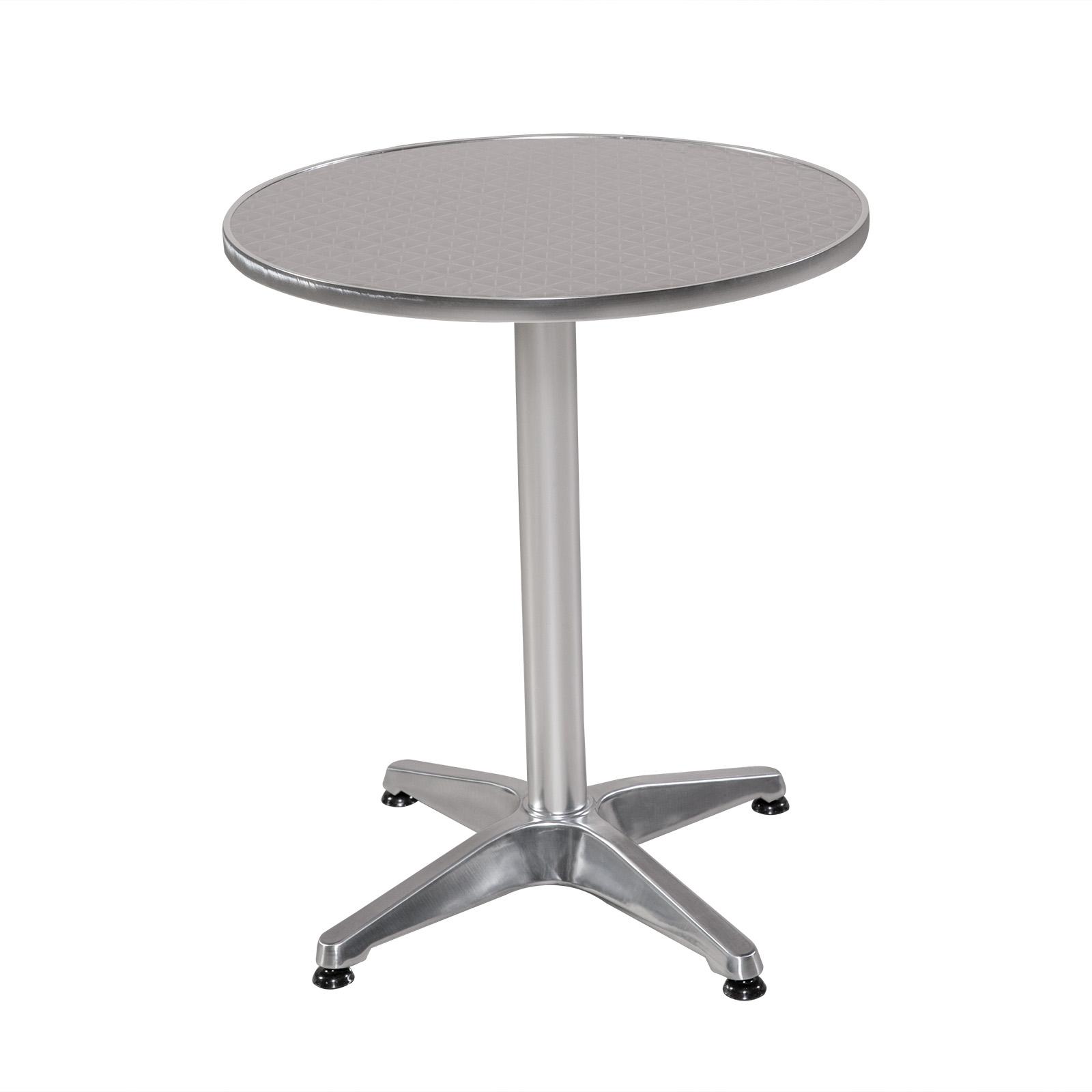 Bistrotisch rund aluminium gartentisch alu tisch for Bistrotisch rund