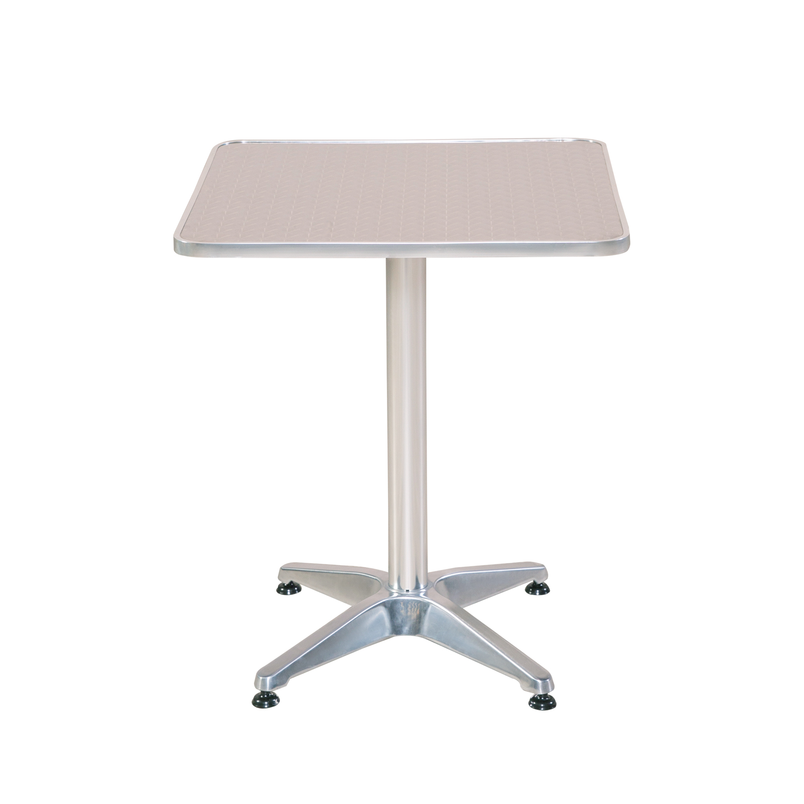 Bistrotisch eckig Aluminium Gartentisch Alu Tisch Beistelltisch ...