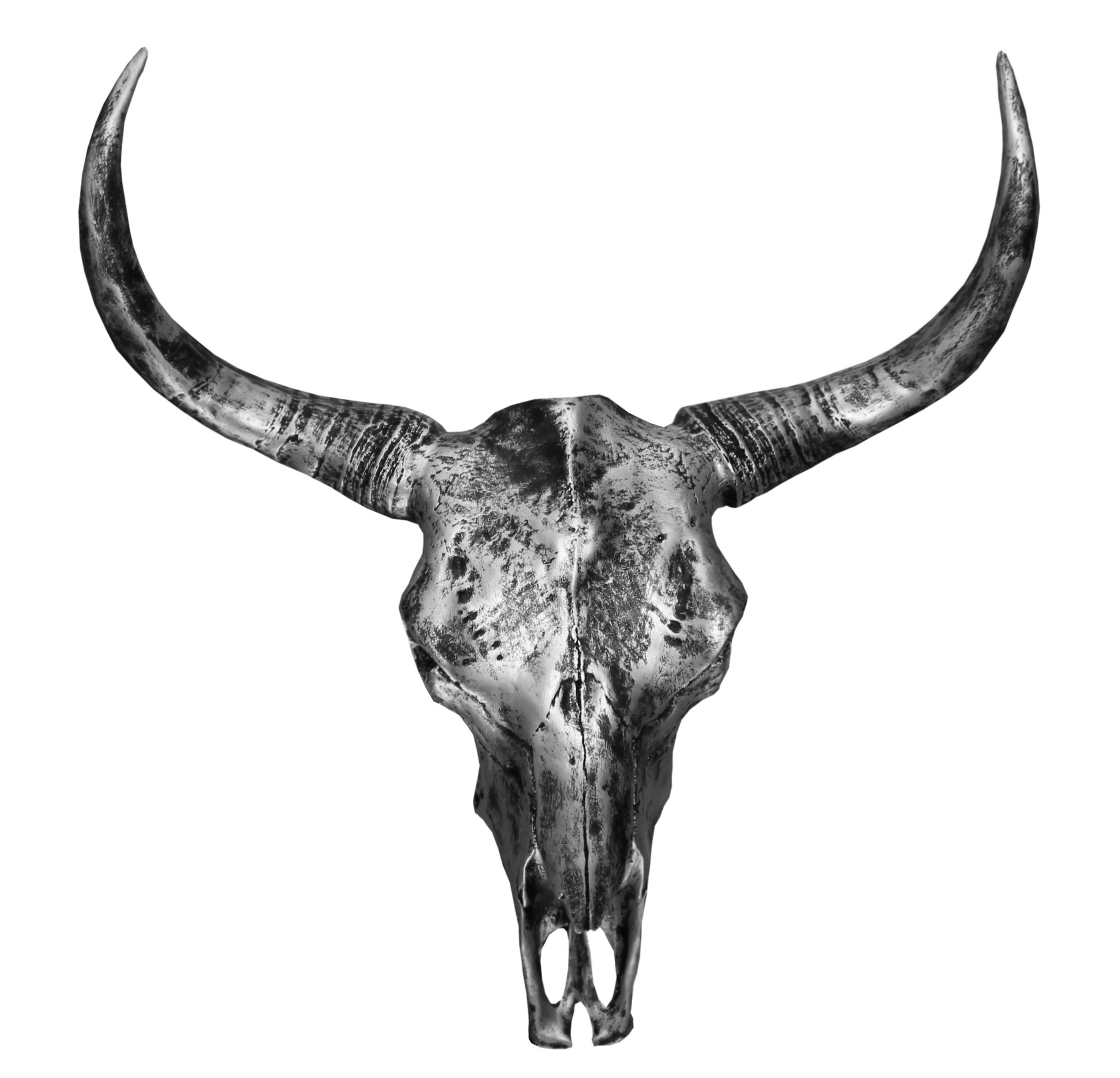 figurine d corative cr ne de buffle xxl bison d coration. Black Bedroom Furniture Sets. Home Design Ideas