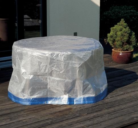 Housse de protection couvercle pour table ovale 160cm for Housse pour table de jardin ovale 200 cm
