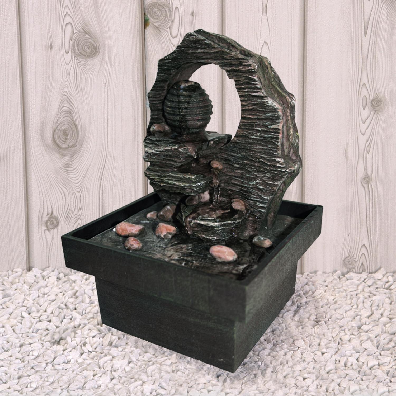 dekobrunnen brunnen zimmerbrunnen kreta f r innen 13x13x19 cm ebay. Black Bedroom Furniture Sets. Home Design Ideas