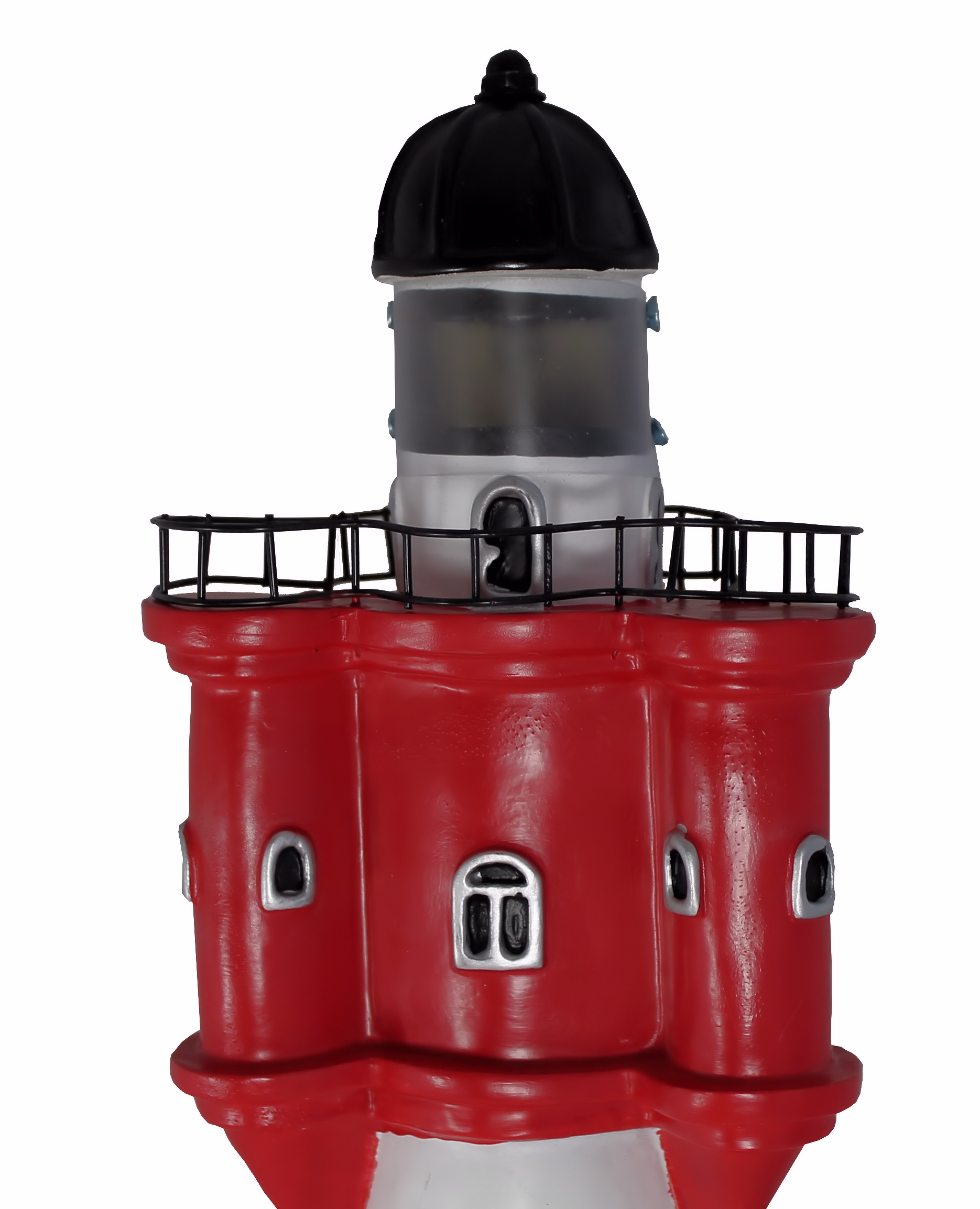 leuchtturm 50 cm roter sand solar f r den garten mit licht dekoration ebay. Black Bedroom Furniture Sets. Home Design Ideas