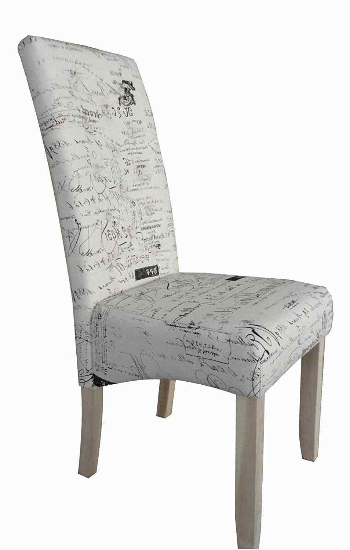 Inspirierend Esszimmerstühle Holz Gepolstert Ideen Von Esszimmerstuhl 2er Set Hochlehner Stoff Naturweiß Bedruckt
