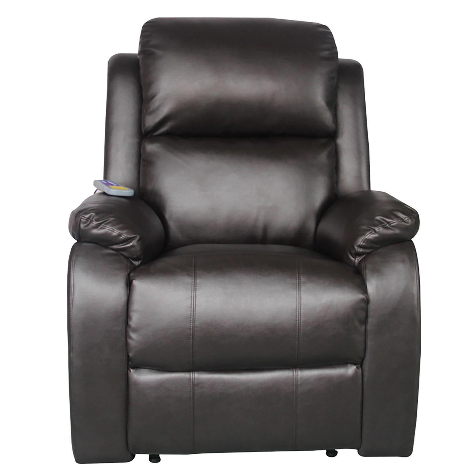 Fernsehsessel mit Heizung Massage Kunstleder Relaxsessel