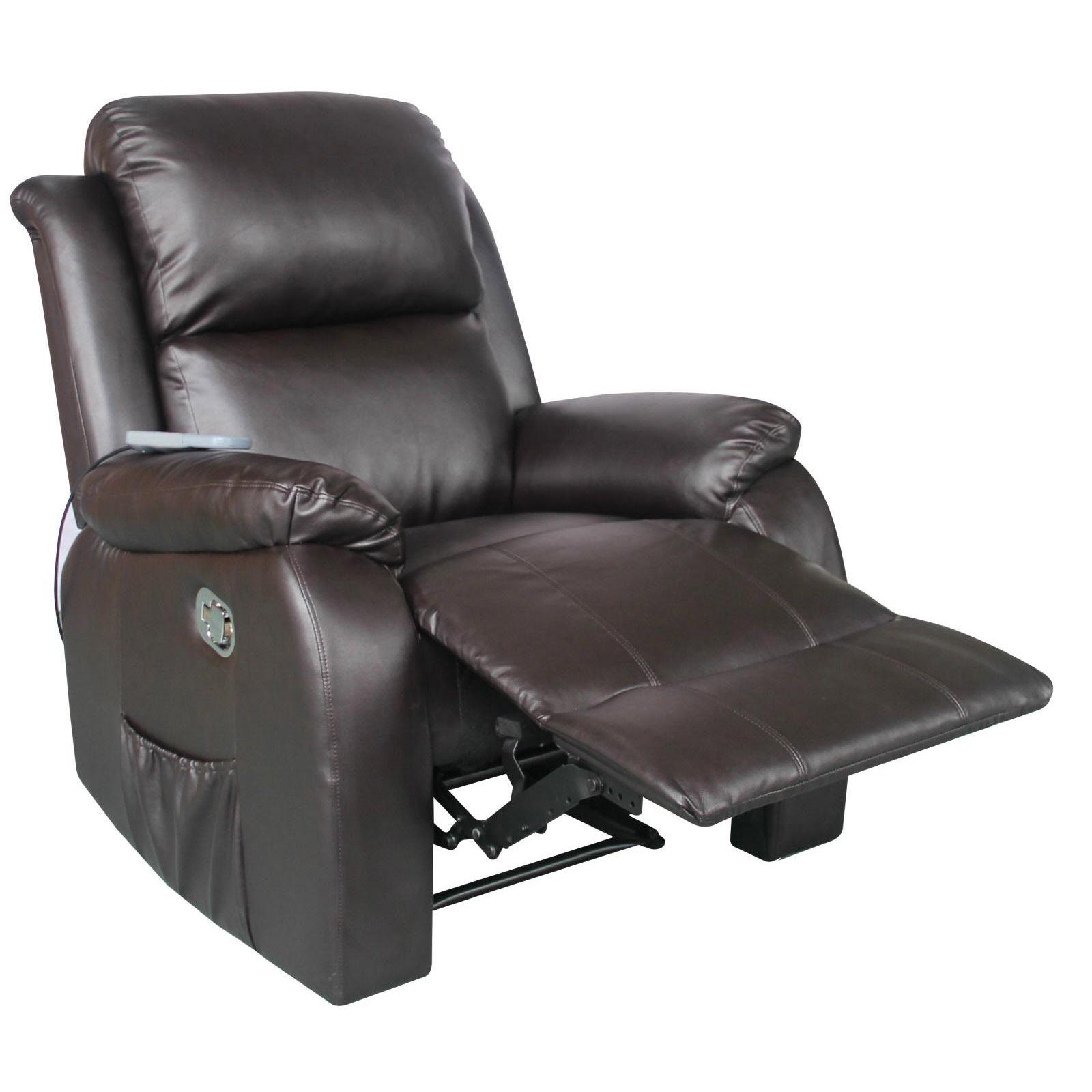 fernsehsessel mit heizung massage kunstleder relaxsessel tv sessel braun ebay. Black Bedroom Furniture Sets. Home Design Ideas