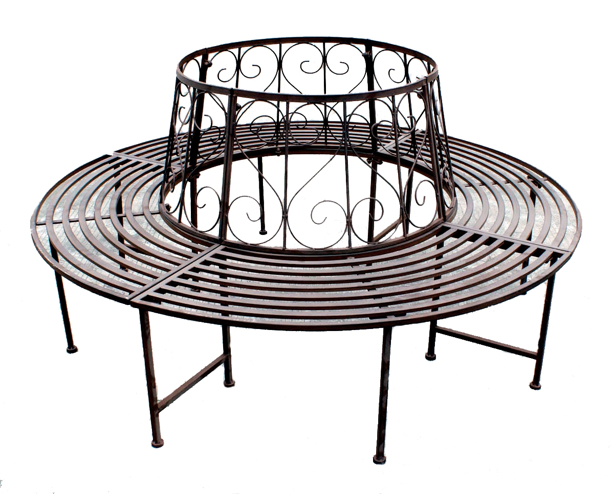 Tree Seat Bench Wrought Iron Round 360 161cm Garden Furniture Specialistic Ebay