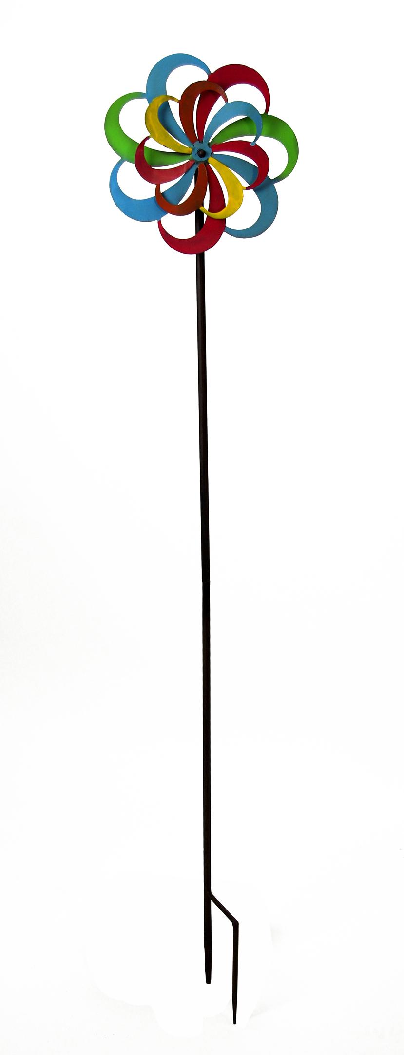 moulin vent piquet fer brun antique avec color h lice. Black Bedroom Furniture Sets. Home Design Ideas