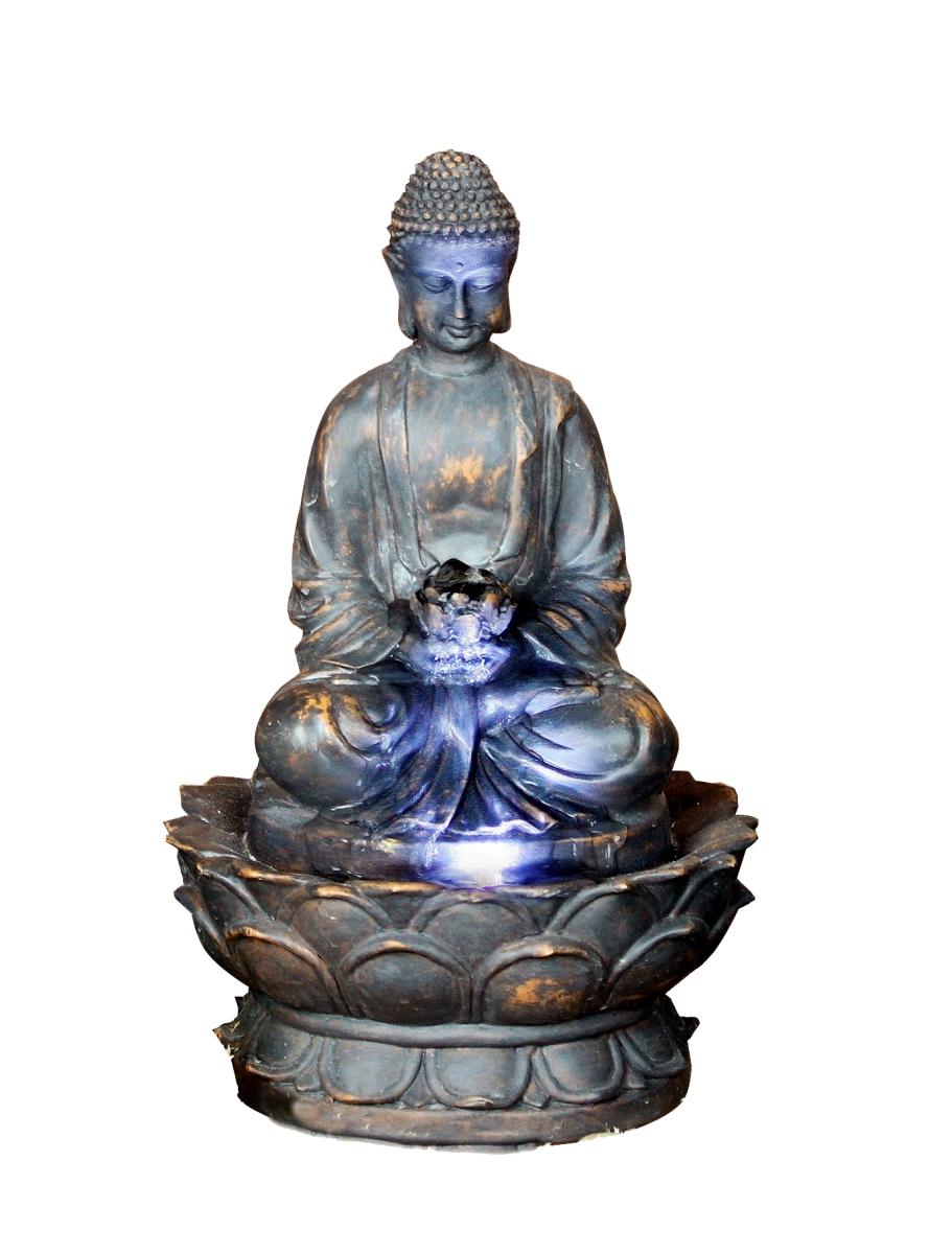 brunnen buddha zimmerbrunnen mit led wohnung entspannung. Black Bedroom Furniture Sets. Home Design Ideas