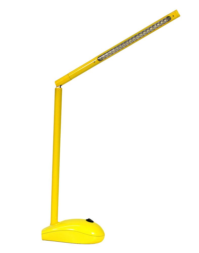 led schreibtischlampe gelb mit akku und netzbetrieb usb port pc maus optik t ebay. Black Bedroom Furniture Sets. Home Design Ideas