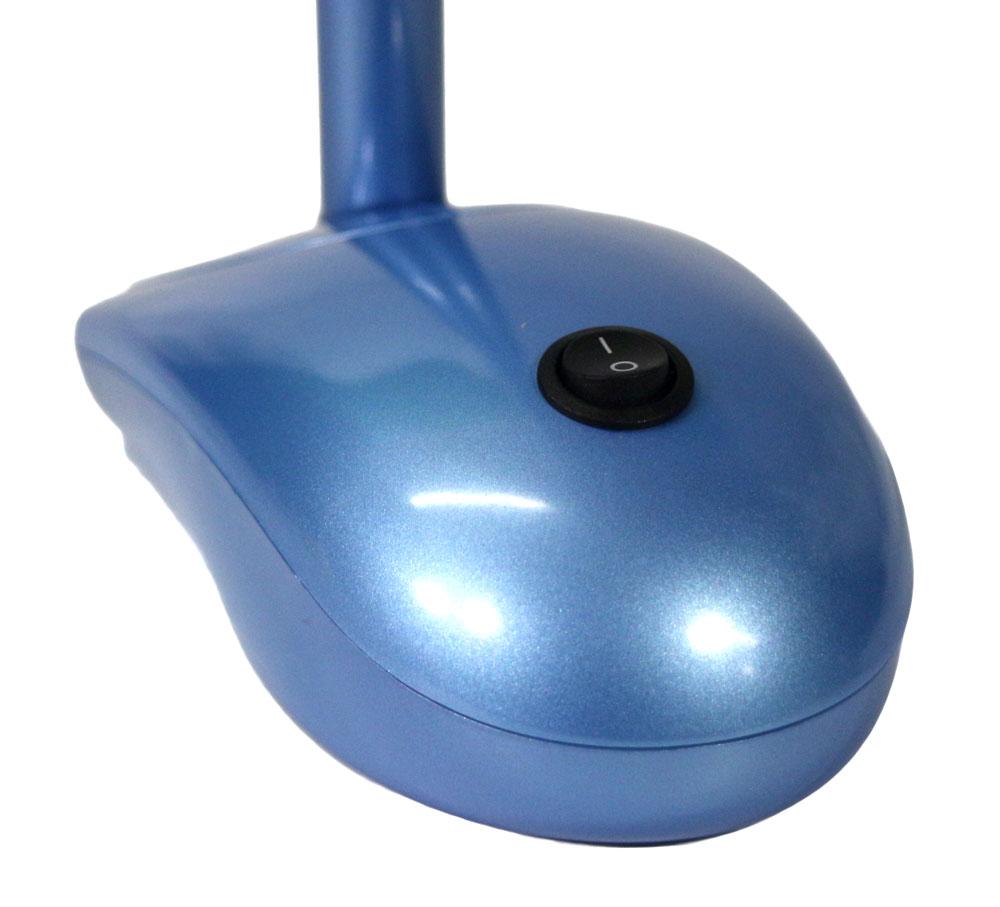 led schreibtischlampe blau mit akku und netzbetrieb usb port pc maus optik t ebay. Black Bedroom Furniture Sets. Home Design Ideas
