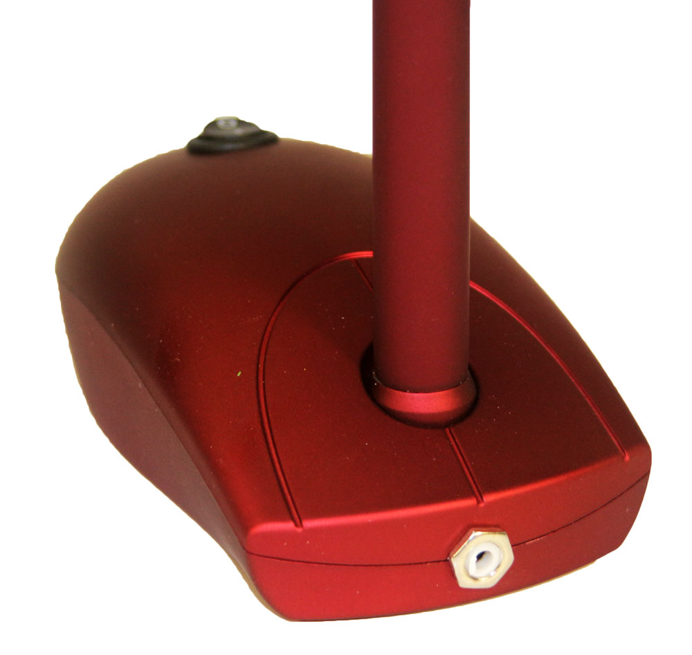 led schreibtischlampe rot mit akku und netzbetrieb usb port pc maus optik ti ebay. Black Bedroom Furniture Sets. Home Design Ideas