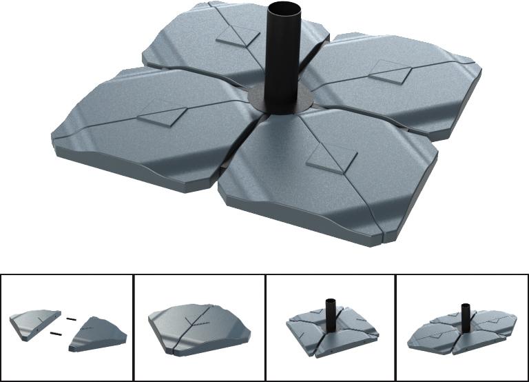 schirmst nder platten beschwerung f r sonnenschirm ampelschirm 20 kg ebay. Black Bedroom Furniture Sets. Home Design Ideas