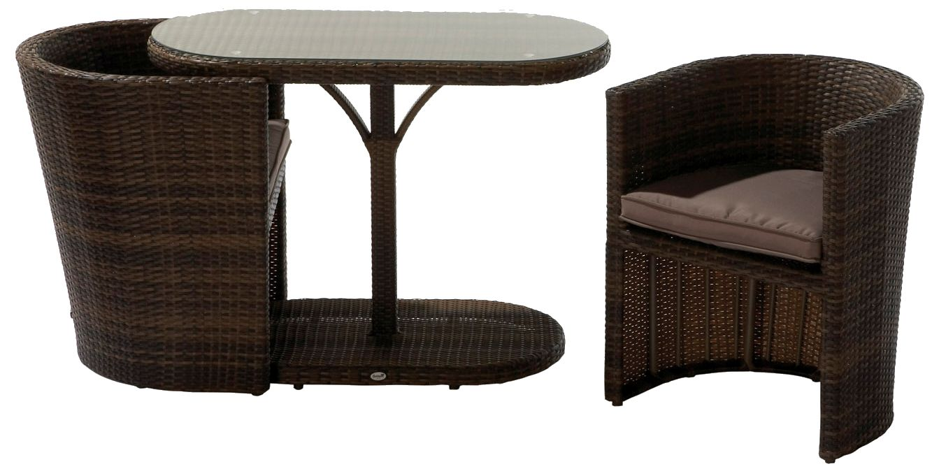 hartmann balkonset continental 2 sessel 1 tisch rattan gelflecht gartenm bel moc ebay. Black Bedroom Furniture Sets. Home Design Ideas