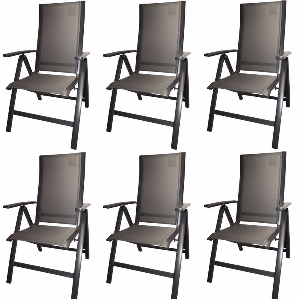 hartmann garten stuhl klappsessel 6 st ck alu textilene. Black Bedroom Furniture Sets. Home Design Ideas