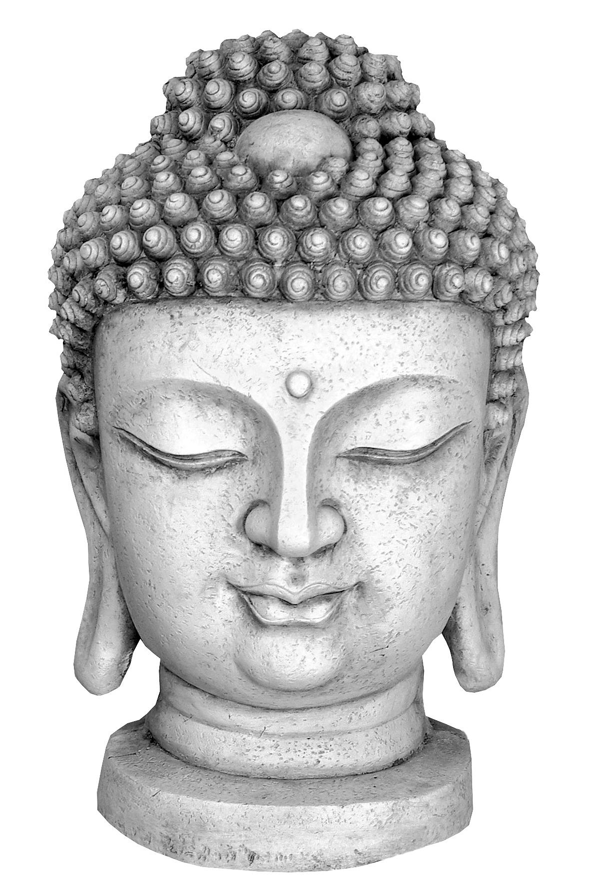 figurine d corative bouddha xxl statue t te b ste ancien. Black Bedroom Furniture Sets. Home Design Ideas