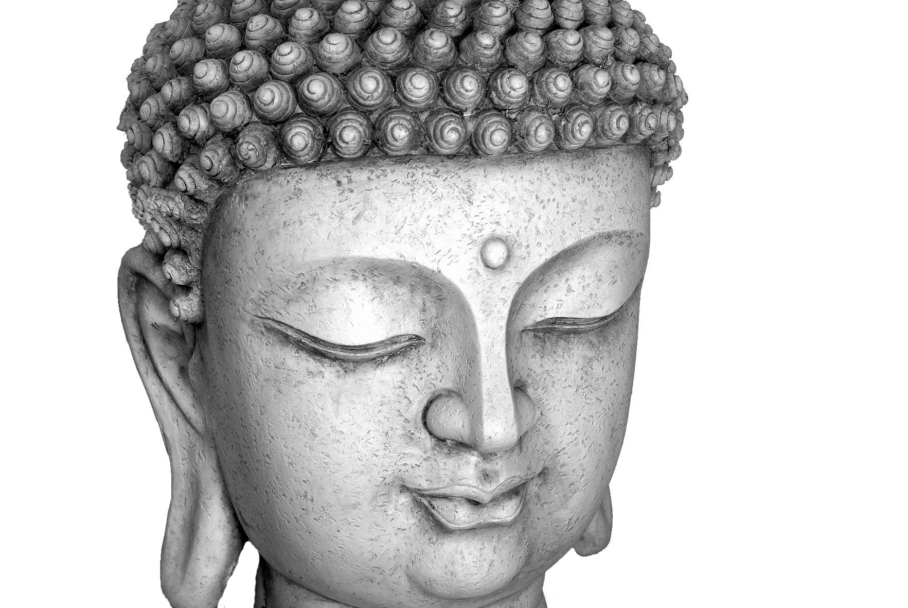 dekofigur buddha xxl statue buddha kopf b ste antik wei. Black Bedroom Furniture Sets. Home Design Ideas