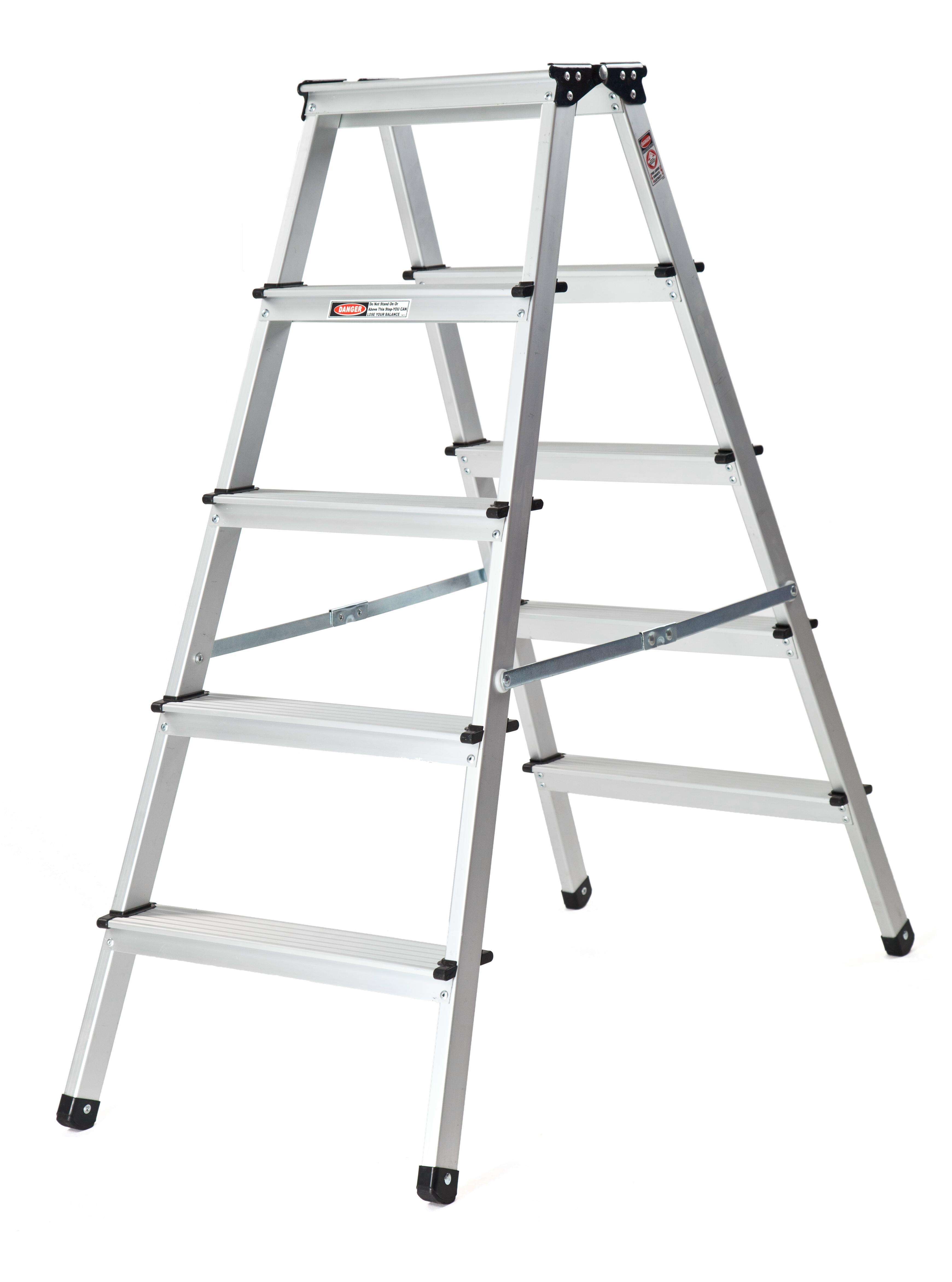 alu trittleiter haushaltsleiter stehleiter klappleiter 2x5. Black Bedroom Furniture Sets. Home Design Ideas