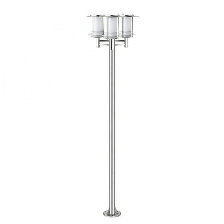 edelstahl solar gartenlampe standlampe kandelaber 3. Black Bedroom Furniture Sets. Home Design Ideas