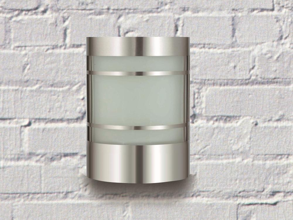 wandau enleuchte ohne bewegungsmelder edelstahl wandlampe wandleuchte 4031306706385 ebay. Black Bedroom Furniture Sets. Home Design Ideas