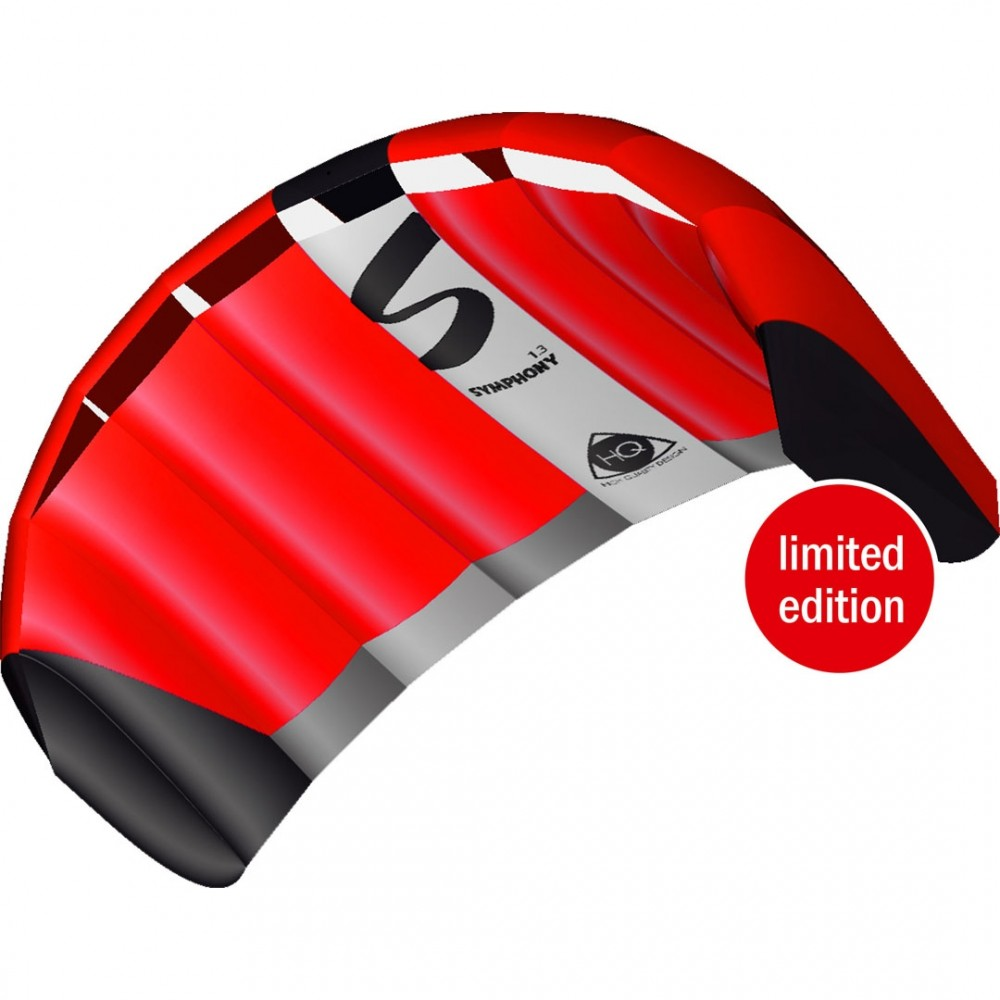 HQ Lenkmatte Symphony Pro 1.3 Neon Red Kite Limited Edition R2F Allround Lenkdrachen Kite