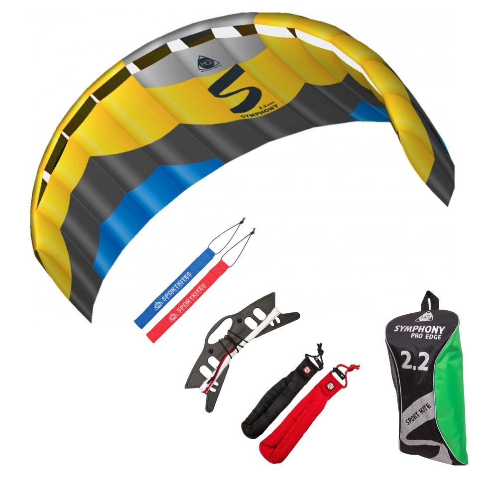 HQ Lenkmatte Symphony Pro 2.2 Edge Bundle R2F Allround Lenkdrachen Kite Hauptbild