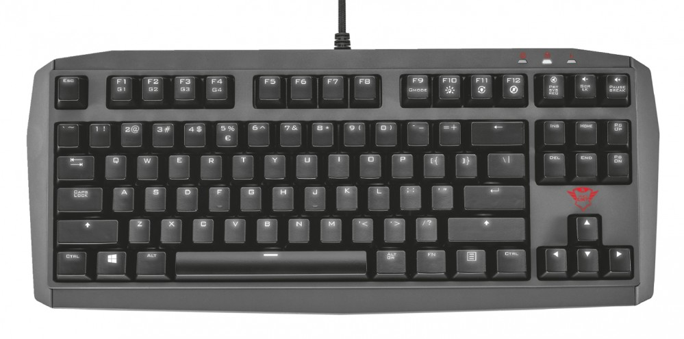 Trust Tastatur GXT 870 LED QWERTY Mechanical TKL Gaming Keyboard