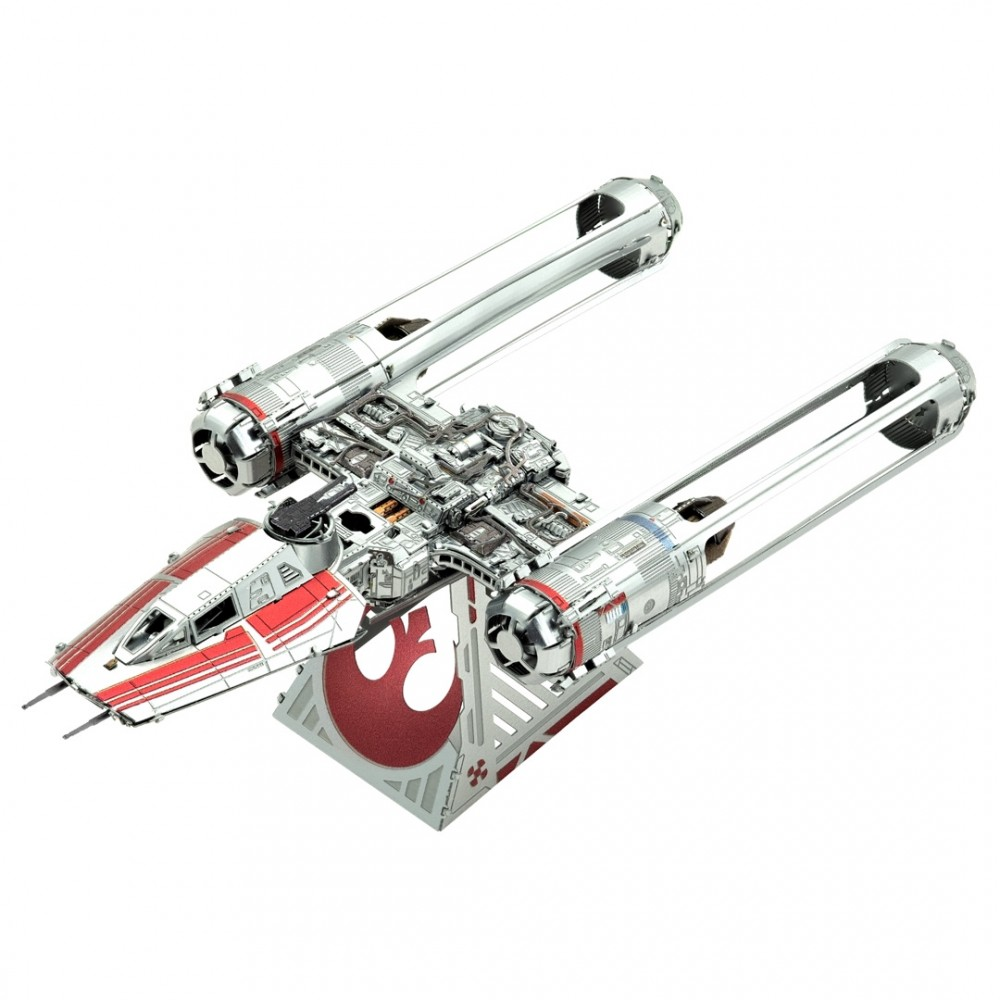 "Metal Earth STAR WARS ""Der Aufstieg Skywalkers"" Zorri's Y-Wing Fighter Resistance 2019 3D Figur Metallbausatz"