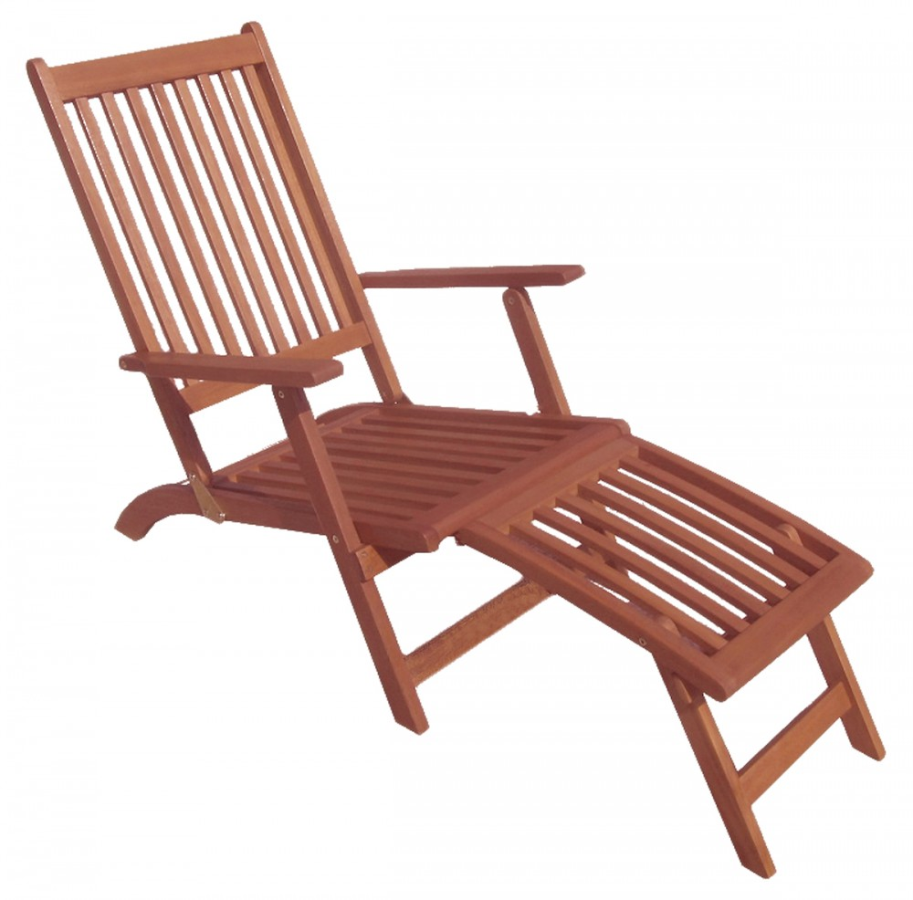 deckchair holz gartenliege relaxliege r ckenlehne fixiert. Black Bedroom Furniture Sets. Home Design Ideas