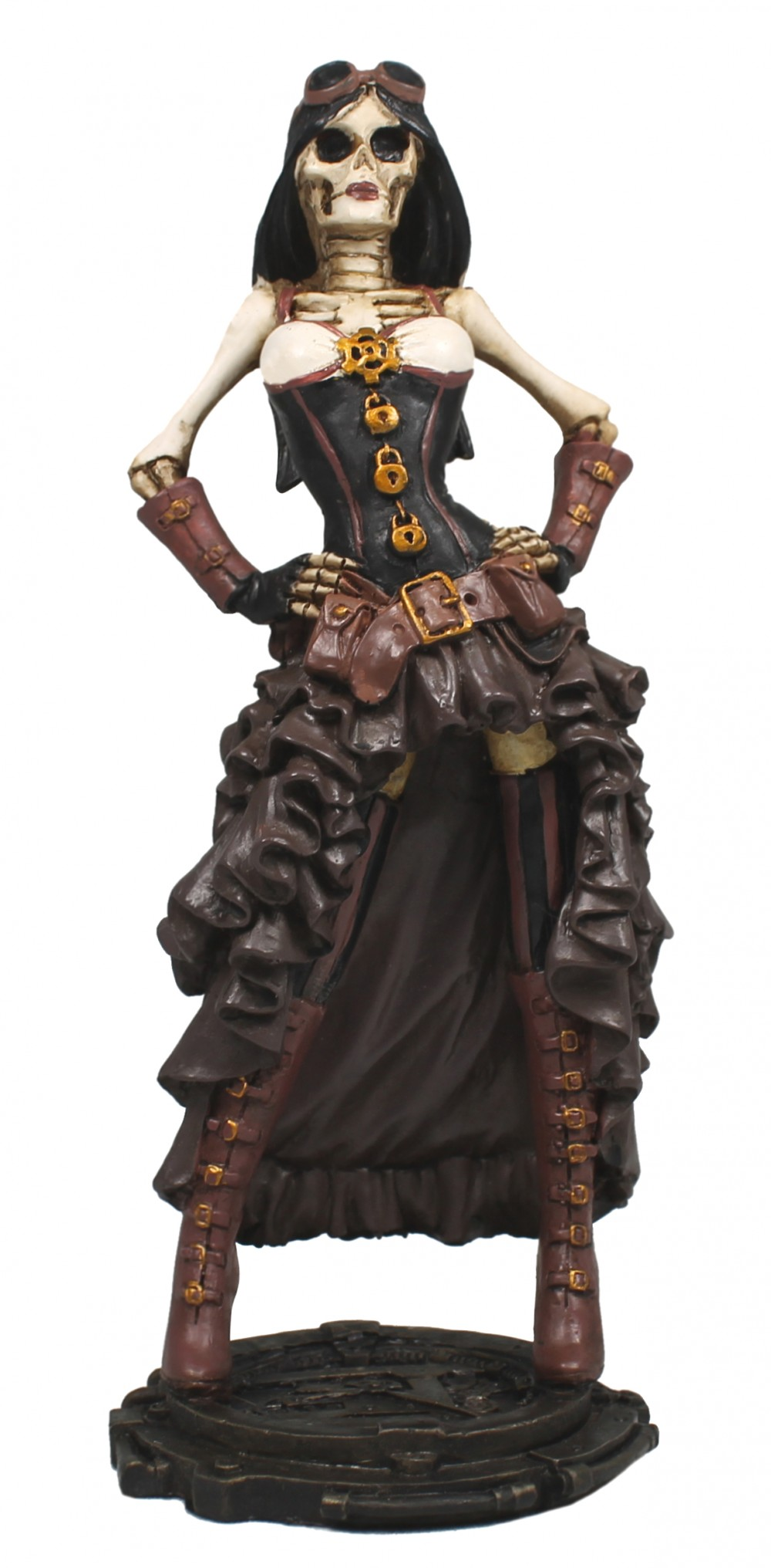 Dekofigur Steampunk Skelett Lady Science-Fiction Deko Dekoration