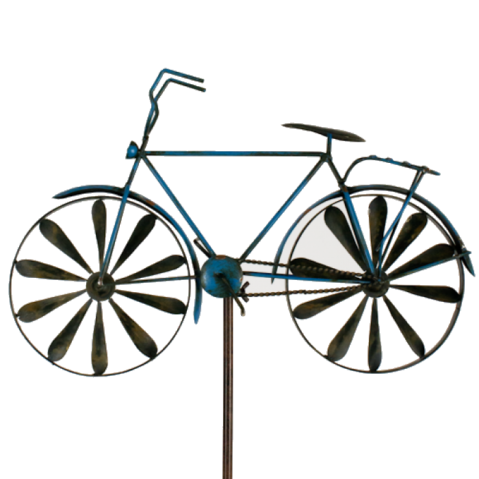 Windspiel Fahrrad Metallwindrad Bicylce Blue Gartedeko Windrad Metall