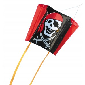 HQ Single Line Kites Kinderdrachen Sleddy Jolly Roger Freizeit Drachen