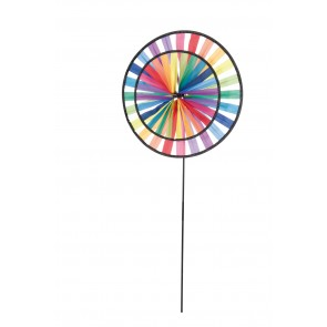 HQ Windspiel Magic Wheel Duett Rainbow Garten Dekoration