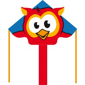 HQ Single Line Kites Kinderdrachen Einleiner Eco Line Simple Flyer Owl Eule 120 cm Drachen Freizeit