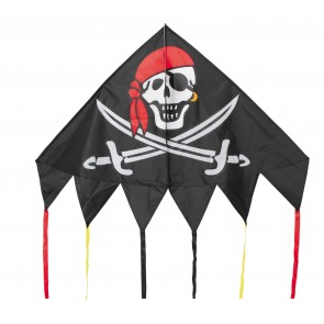 HQ Single Line Kites Einleiner Delta Jolly Roger Pirat Kinderdrachen