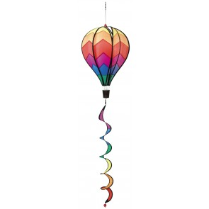 HQ Windspiel Hot Air Balloon Twist Sunrise Garten Dekoration