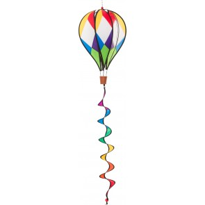 HQ Windspiel Hot Air Balloon Twist Harlequin Garten Dekoration