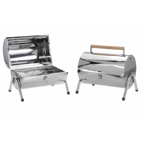 Grill Gartengrill Edelstahl-Grilltonne Festival Grill BBQ Barbecue Grill mit Tragegriff