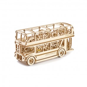 Woodencity London Bus Holzmodell Bausatz Dekoration