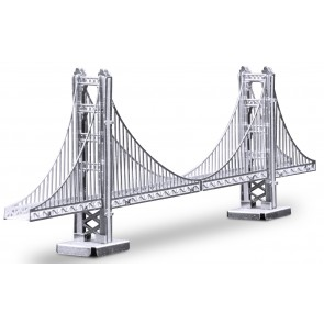 Metal Earth Metallbausatz 3D Puzzle Basteln Metall Figur Golden Gate Bridge
