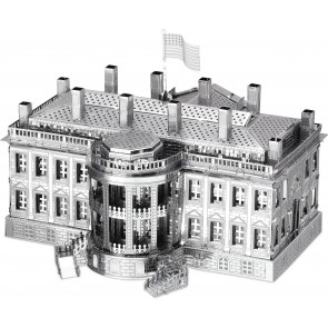 Metal Earth Metallbausatz 3D Puzzle Basteln Metall Figur The White House USA weißes Haus