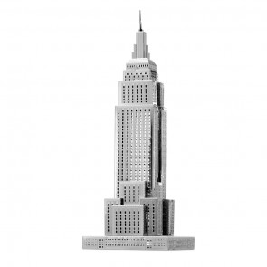 Metal Earth Iconx Empire State Building Metallbausatz 3D Puzzle Basteln Metall Figur
