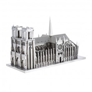 Metal Earth Iconx Notre Dame Metallbausatz 3D Puzzle Basteln Metall Figur
