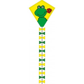 HQ Single Line Kites Kinderdrachen Einleiner Eco Line Eddy Happy Froggy 50 cm Drachen Freizeit