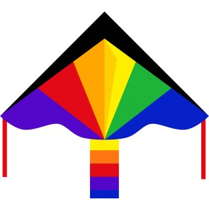 HQ Single Line Kites Kinderdrachen Einleiner Eco Line Simple Flyer Rainbow 120 cm Drachen Freizeit