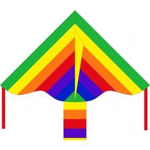HQ Single Line Kites Kinderdrachen Einleiner Eco Line Simple Flyer Rainbow 85 cm Drachen Freizeit