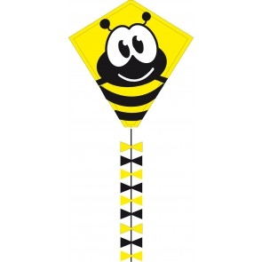 HQ Single Line Kites Kinderdrachen Einleiner Eco Line Eddy Bumble Bee 50 cm Drachen Freizeit